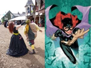 Elizabethan Batgirl (Ashley Walton and Barbara Gordon/Batgirl (DC Comics)