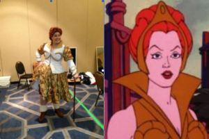 Teela costume (Clare Wilson), Teela cartoon image (Mattel)