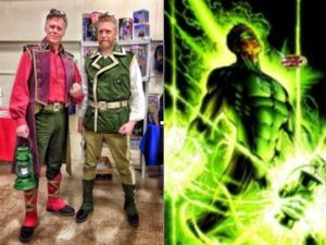 Green Lantern Steampunk (Yancey and Damon Thrift) and The Green Lantern (DC Comics)