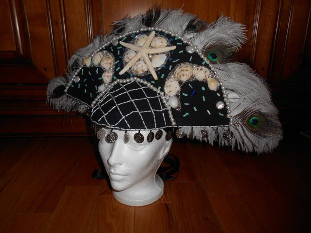 Headdress for her Future Fashion Folio entry for Costume Con 2014.