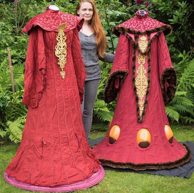 Sabine and her gorgeous Queen Amidala recreation gowns.
