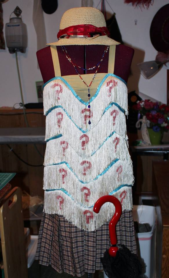Amy Sue's flapper costume and accessories.