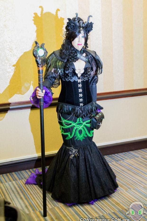 Ryn's clever Maleficent costume.