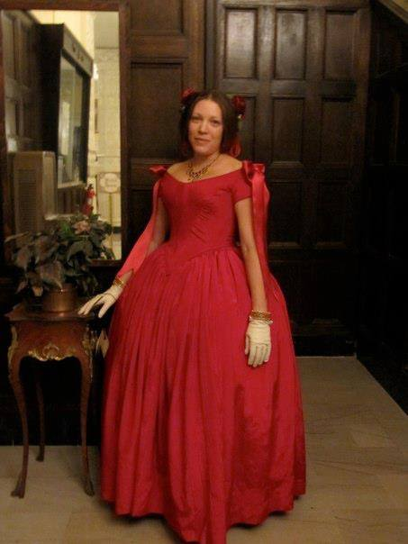 Twila in her beautiful red gown.