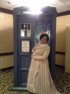 The Doctor and her Tardis.