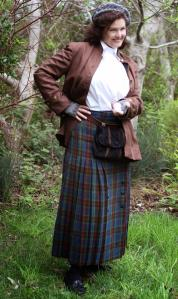 """I love it! Kilts are *hard*, and not only have you done a great job on that, but the whole outfit looks great and has bags of attitude. It's one of those concepts that doesn't sound like it'll work, but it so does. Brava!"""
