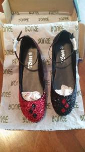Amazing glitter covered shoes!