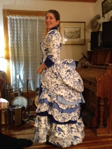 Stephanie's frothy Victorian gown!